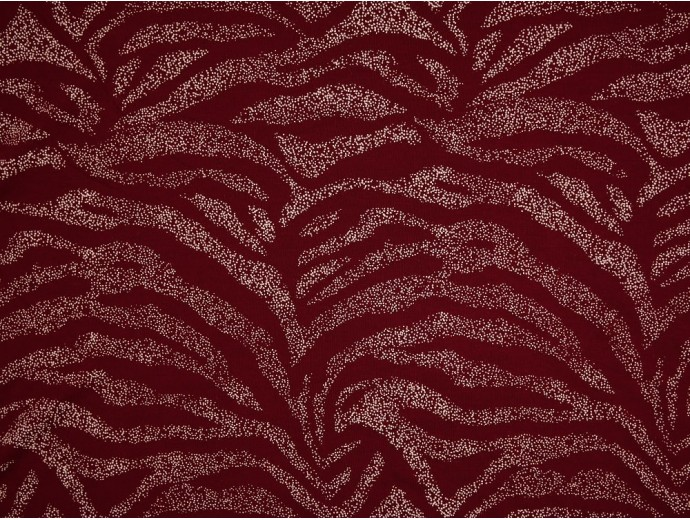 Single Jersey Printed Fabric - Burgundy with White Spray