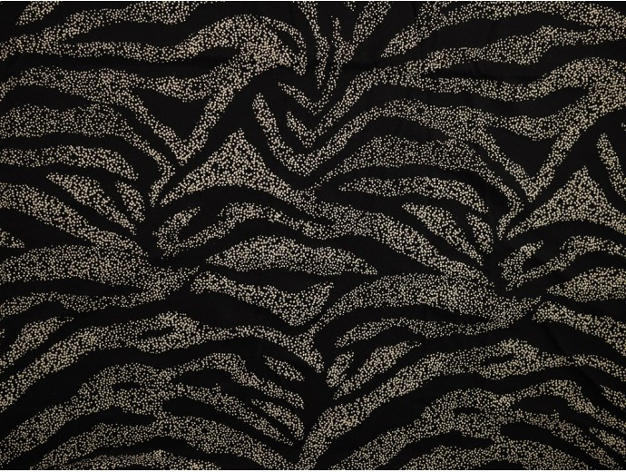 *Fabric of the Week* Single Jersey Printed Fabric - Black with White Spray