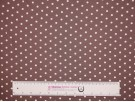 Single Jersey Printed Fabric - Cream Spot on Taupe