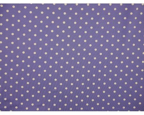 Single Jersey Printed Fabric - Cream Spot on Periwinkle