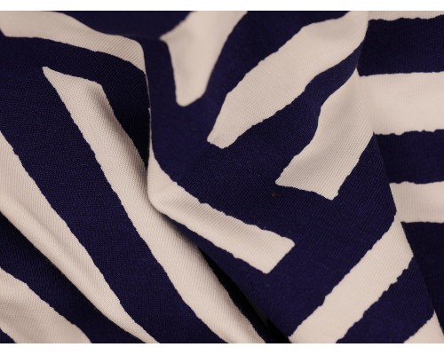 Single Jersey Printed Fabric - Haphazard Stripe