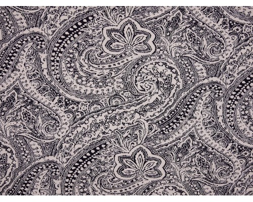 Single Jersey Printed Fabric - Indigo Abstract