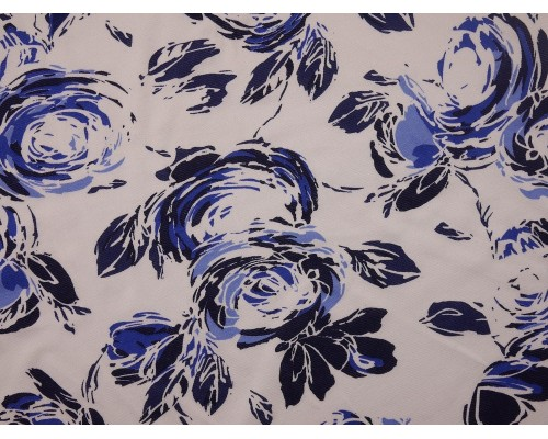 Single Jersey Printed Fabric - Abstract Rose