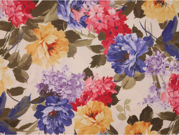 Single Jersey Fabric - Flower Print