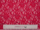 Sequined Lace Fabric - Fuchsia