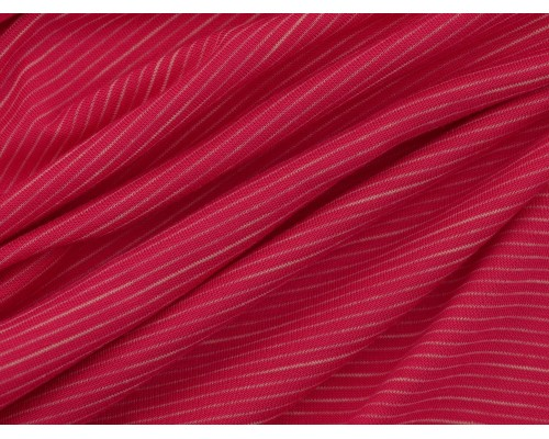 Single Jersey Faint Stripe Fabric - Pink