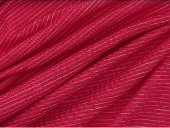 Single Jersey Faint Stripe Fabric - Pink