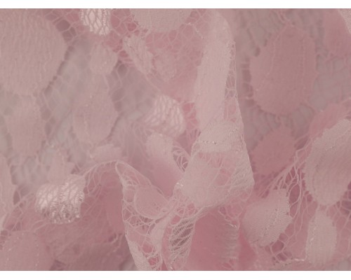 Lace Fabric - Baby Pink