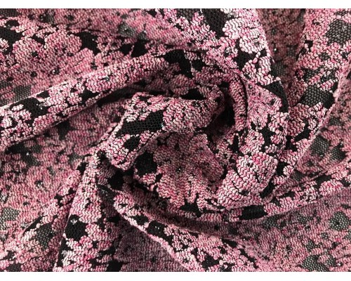 Lace Fabric - Evening Pink Floral